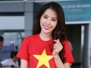 Nam Em mặc giản dị, tự tin lên đường dự thi Miss Earth