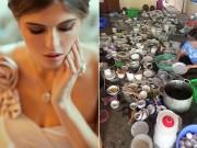Bạn trẻ - Cuộc sống - Cô dâu tủi phận khi bầu 7 tháng vẫn phải oằn mình rửa bát