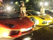 Dàn Lamborghini trị giá trăm tỷ đồng mừng ngày vui Minh Nhựa