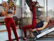 Làm đẹp - Cụ bà 71 tuổi gây sốc vì tập gym khỏe hơn thanh niên