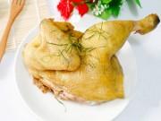 Đãi cả nhà gà hấp muối sả dịp cuối tuần