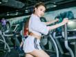 Chân dài  Lê Hà The Face lộ ảnh tập gym căng nuột