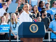Thế giới - Obama: Vận mệnh thế giới bị đe dọa nếu Trump thắng
