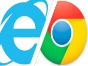 Thị phần trình duyệt IE giảm sâu, Chrome vươn lên mạnh mẽ