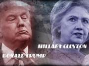 [Đồ họa] Khác nhau như nước với lửa giữa Trump và Clinton