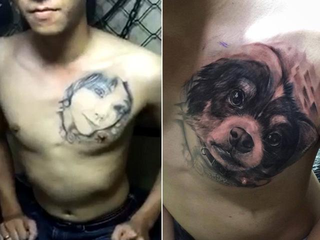 Thầy giáo 9X biến hình xăm bạn gái cũ thành hình chó