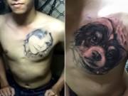 Bạn trẻ - Cuộc sống - Thầy giáo 9X biến hình xăm bạn gái cũ thành hình chó
