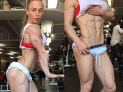 Bạn trẻ - Cuộc sống - Xôn xao clip cô gái tập gym đạt đến cảnh giới khó tin