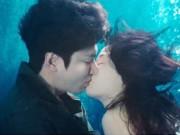 """Lee Min Ho hôn  """" nàng tiên cá """"  Jeon Ji Hyun dưới biển"""