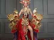 Khả Trang diện trang phục nặng 45kg thi HH Siêu quốc gia