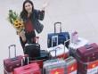 Hoa khôi Diệu Ngọc mang 100kg hành lý đi thi Miss World