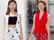 Á hậu Thùy Dung bất ngờ cá tính với áo bra-top hở eo