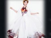 Diệu Ngọc diện áo yếm gợi cảm, bay bổng thi Miss World