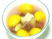 Chè khoai lang tím bí đỏ nóng hổi cho mùa đông ấm áp