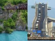 """15 cây cầu  """" điên rồ """"  và đáng sợ nhất thế giới (P.2)"""