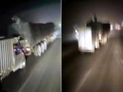 Thế giới - TQ: Trộm hàng trên xe đang chạy vù vù như phim hành động