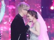 Bùi Anh Tuấn ôm hôn Hương Tràm trước ngàn khán giả