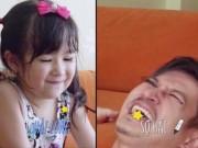 """Phim - Huy Khánh được con gái 4 tuổi """"chăm chút"""" dung nhan"""