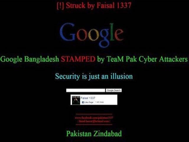 Trang web Google Bangladesh bị hacker tấn công