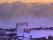 """Bức tường sương khói như cảnh  """" tận thế """"  ở Mỹ"""