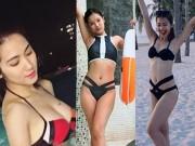 """Hòa Minzy sexy đi bơi vẫn không bạo bằng 2 cô bạn  """" đáng gờm """""""