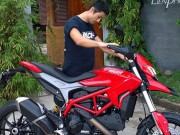 Xe máy - Xe đạp - Ngắm Ducati Hypermotard độ cực độc của Johnny Trí Nguyễn