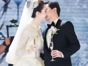 Thu Thảo và chồng đại gia ôm hôn đắm đuối trong tiệc cưới xa hoa