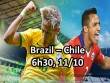 "Brazil – Chile: Neymar sẽ ra tay ""cứu"" Messi?"