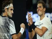 """"""" 2 vị thần """"  tennis thế giới 2017: Số 1, Nadal hay Federer?"""