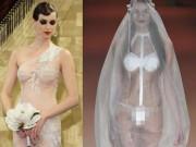 Nàng dâu diện váy cưới mỏng manh liệu có khiến quan khách giật mình?