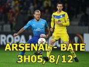 Arsenal - BATE Borisov: Thua đau MU, trút giận nhược tiểu