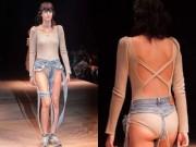Không tin vào mắt với mẫu jean rách nát trên sàn diễn Tokyo