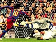 """Real - Barca:  Ma thuật  Ronaldinho che mờ Rô béo,  """" hạ gục """"  fan Real"""