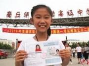 """Giáo dục - du học - Cô bé thần đồng 10 tuổi vượt qua kỳ thi """"sinh tử"""" ở Trung Quốc"""