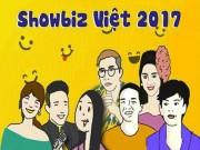 """Hí họa: Showbiz Việt 2017  """" loạn """"  vì người thứ 3"""