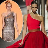 Hãy diện váy lệch vai cho mùa Xuân Hè 2011