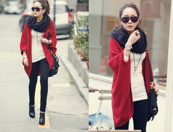 Thời trang ngày lạnh với áo len dáng dài - 4