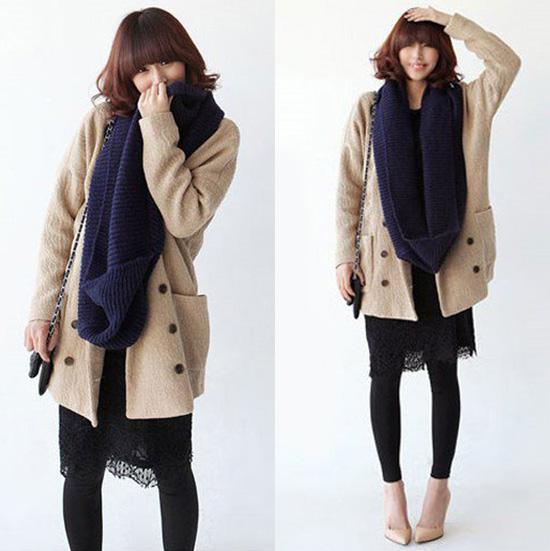 Thời trang ngày lạnh với áo len dáng dài - 5