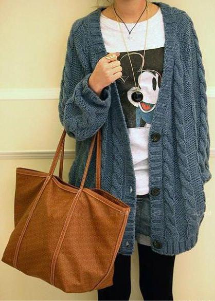 Thời trang ngày lạnh với áo len dáng dài - 6