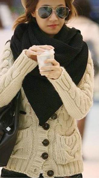 Thời trang ngày lạnh với áo len dáng dài - 7