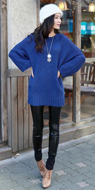 Thời trang ngày lạnh với áo len dáng dài - 16