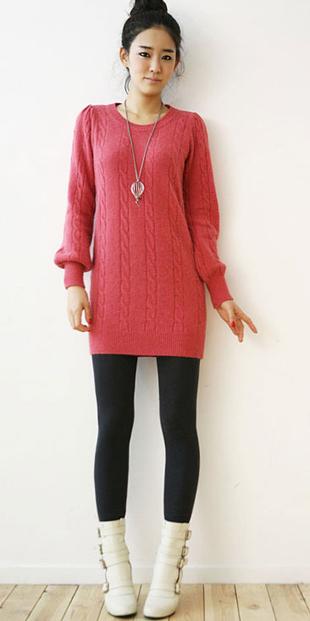 Thời trang ngày lạnh với áo len dáng dài - 17
