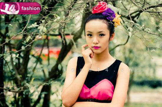 Người mẫu 12 tuổi mặc váy đẹp du xuân - 2