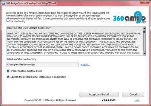 Chữa lỗi và tối ưu hệ thống với 360Amigo System Speedup Free - 1