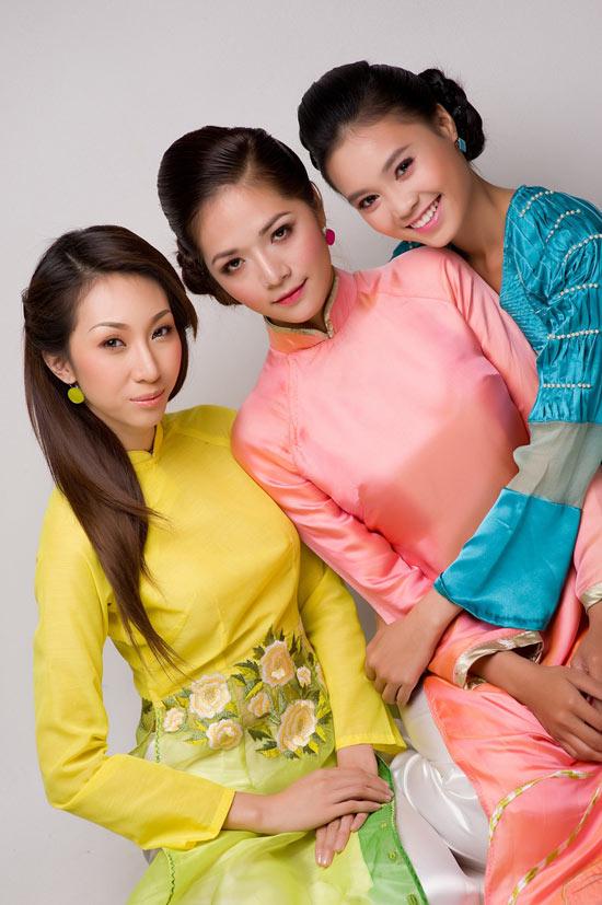 Mặc áo dài Tết đẹp như sao Việt - 9