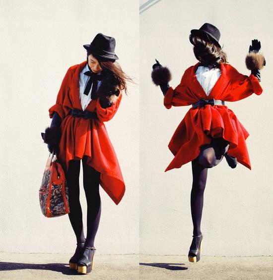 Mặc đẹp với đỏ và đen - 1