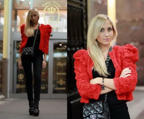 Mặc đẹp với đỏ và đen - 4