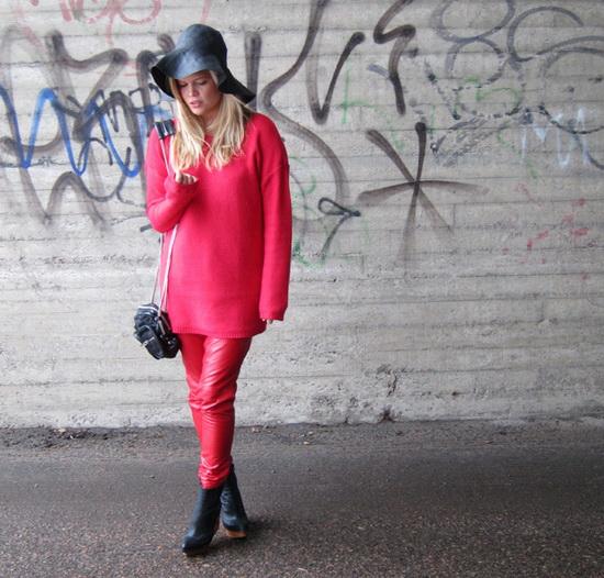 Mặc đẹp với đỏ và đen - 10