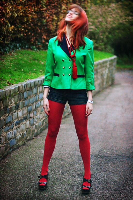 Mặc đẹp với đỏ và đen - 11