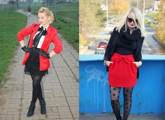 Mặc đẹp với đỏ và đen - 12